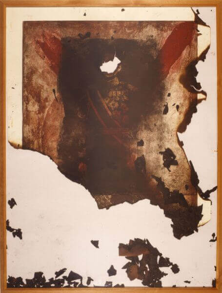 嶋田美子氏の作品「焼かれるべき絵」
