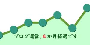 【ブログ運営】4か月経過しました、PVは上昇