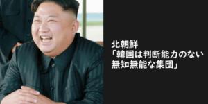 北朝鮮「韓国は判断能力のない無知無能な集団」僕「」